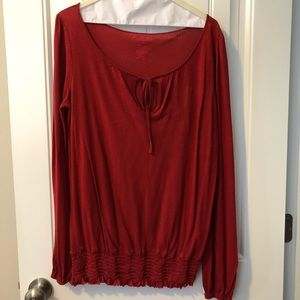 Lucky Brand long sleeve peasant blouse size S